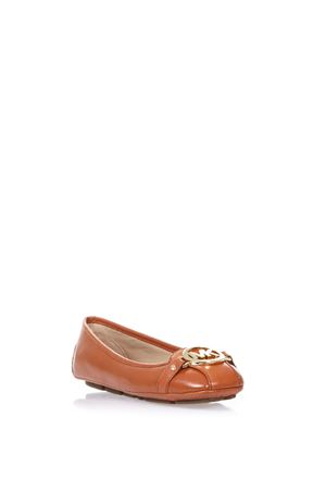 LEATHER BALLERINAS WITH LOGO SS 2017 MICHAEL MICHAEL KORS | 150 | 40S5FUFR1LFULTON MOC800