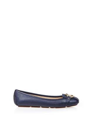 LEATHER BALLERINAS WITH LOGO SS 2017 MICHAEL MICHAEL KORS | 150 | 40T2FUFR1LFULTON MOC406