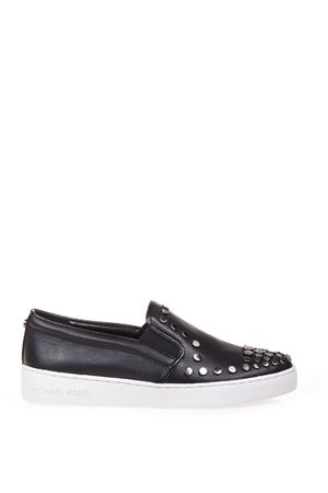 STUDDED LEATHER SLIP-ON SNEAKERS SS 2017 MICHAEL MICHAEL KORS | 55 | 43R7KTFP1LKEATON SLIP ON001
