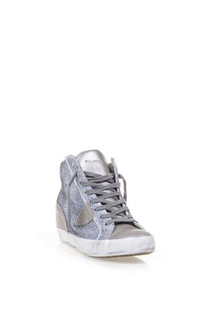 SQUINED FABRIC & LEATHER SNEAKERS SS 17 PHILIPPE MODEL | 55 | PFHDPIAF H D LAS VEGASLP57
