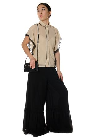 MUSLIN SILK TROUSERS SS 2017 RED VALENTINO | 8 | MR3RB0M52ES0N0