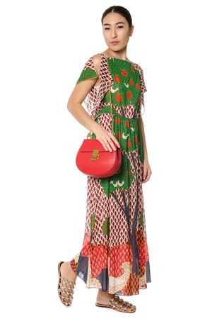 MULTICOLOUR EMBROIDERED TREE LONG DRESS SS17 RED VALENTINO | 32 | MR3VA3Z52QYAR0