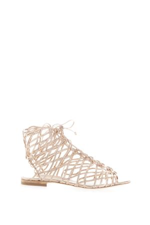 DELPHINE GLADIATOR LEATHER SANDALS SS 2017 SOPHIA WEBSTER | 87 | SWSS15374DELPHINEROSE GOLD