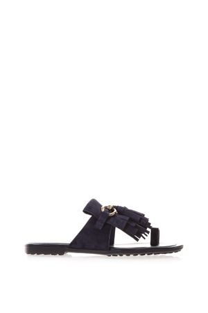FRINGED SANDALS IN SUEDE SS 2017 TOD