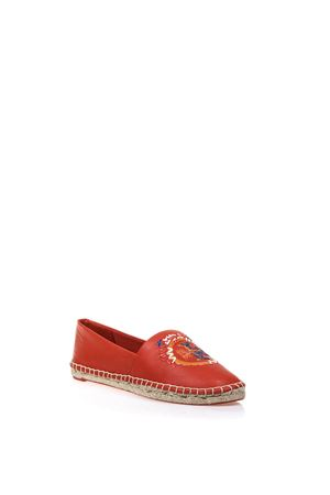 ESPADRILLAS DALEY IN PELLE CON DECORAZIONE PE 2017 TORY BURCH | 144 | 33068DALEY627