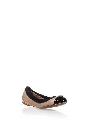 JOLIE TWO-COLOURED LEATHER BALLERINAS SS 2017 TORY BURCH | 150 | 33448JOLIE283