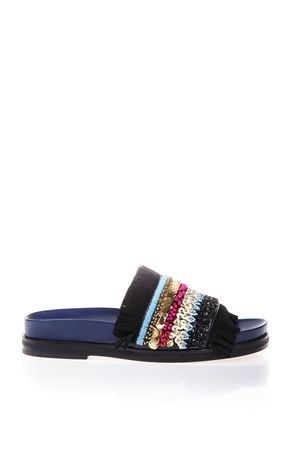 EMBELLISHED SUEDE & LEATER SANDALS SS 2017 TORY BURCH | 87 | 36512ISLE890