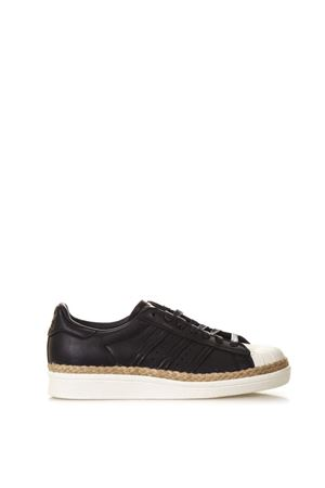 SCARPA SUPERSTAR NEW BOLD NERA IN PELLE E IUTA PE 2018 ADIDAS ORIGINALS | 55 | CQ2365SUPERSTAR 80CORE BLACK