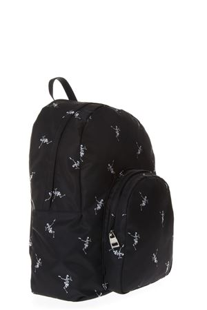 DANCING SKELETON SMALL BLACK BACKPACK SS 2018 ALEXANDER McQUEEN | 183 | 4971699NB1N1082