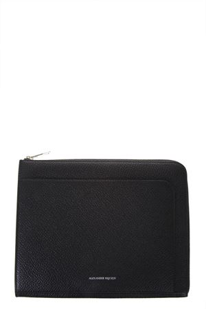 FULL GRAINED BLACK LEATHER DOCUMENT HOLDER SS 2018 ALEXANDER McQUEEN | 34 | 5024420H30N1000