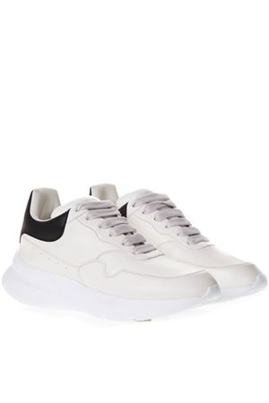 WHITE LEATHER OVERSIZE SOLE RUNNER SNEAKERS SS 2018 ALEXANDER McQUEEN | 55 | 505033WHRU39160