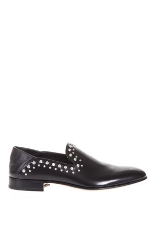 STUDDED BLACK LEATHER LOAFERS SS 2018 ALEXANDER McQUEEN | 130 | 505900WHPP51000