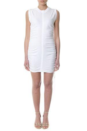 RUCHED WHITE JERSEY MINI DRESS SS 2018 ALEXANDER WANG   32   4C186026B0UNI100