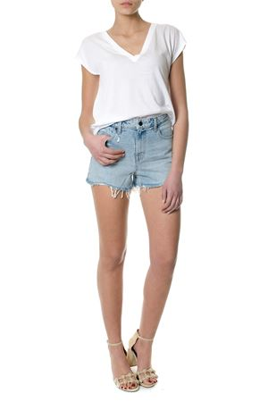 COTTON DENIM SHORTS SS 2018 ALEXANDER WANG | 110000034 | 4D994037ADDN1003108