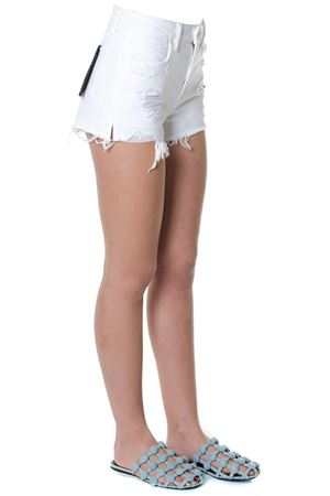 WHITE DESTROYED COTTON DENIM SHORTS SS 2018 ALEXANDER WANG | 110000034 | 4D994188ADDN1016100
