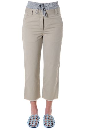 SAND COLOR MEDIA COTTON PANTS SS 2018 ALEXANDER WANG | 8 | 4W184009W7UNI253