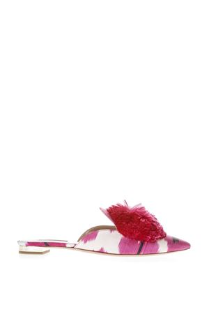 FUXIA SATIN SLIPPER WITH PUFF DETAIL SS 2018 AQUAZZURA | 110000060 | PWPFLAA1IKTAZL
