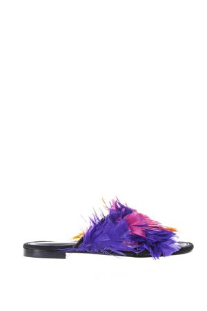 ST TROPEZ BLACK LEATHER & MULTICOLOURED FEATHER SANDALS SS 2018 AVEC MODÉRATION | 87 | 77TROPEZ1