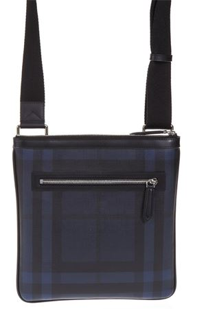 BLACK AND BLUE FABRIC SMOKED SHOULDER BAG SS 2018 BURBERRY | 5 | 39962241NAVY/BLACK