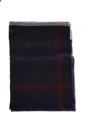 BLUE WOOL FRINGED SCARF SS 2018 BURBERRY | 20 | 4000326199