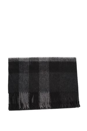 BLACK AND GREY CLASSIC FRINGED SCARF IN CASHMERE SS 2018 BURBERRY | 5 | 4031051199