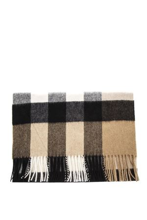 CAMEL CLASSIC FRINGED SCARF IN CASHMERE SS 2018 BURBERRY | 20 | 4031079199