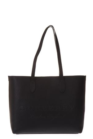 BLACK LEATHER TOTE WITH BURBERRY LOGO SS 2018 BURBERRY | 2 | 40600961BLACK