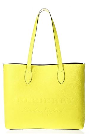 YELLOW LEATHER TOTE SHOPPER BAG SS 2018 BURBERRY | 2 | 40658771YELLOW