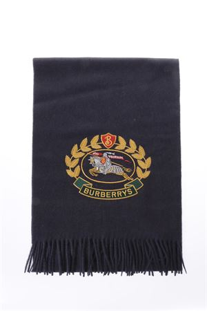 BLU CASHMERE SCARF WITH CLASSIC LOGO SS 2018 BURBERRY | 20 | 4075222141000