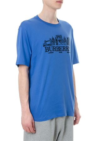 BLUE COTTON T-SHIRT WITH LOGO SS 2018 BURBERRY | 15 | 4547695142870
