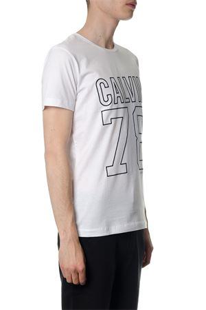 WHITE TIMBALL COTTON T-SHIRT SS 2018 CALVIN KLEIN | 15 | J30J306870TIMBALL SLIM112