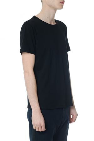 BLACK COTTON T-SHIRT WITH EMBROIDERED LOGO SS 2018 CALVIN KLEIN | 15 | K10K1016621013