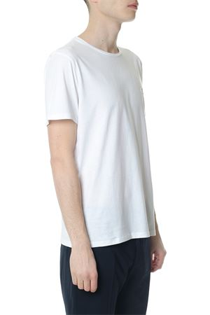 WHITE COTTON T-SHIRT WITH EMBROIDERED LOGO ss 2018 CALVIN KLEIN | 15 | K10K1016621105