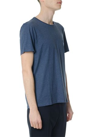 BLUE COTTON T-SHIRT WITH EMBROIDERED LOGO ss 2018 CALVIN KLEIN | 15 | K10K1016621431