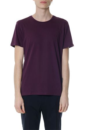 PURPLE COTTON T-SHIRT WITH EMBROIDERED LOGO SS 2018 CALVIN KLEIN | 15 | K10K1016621504