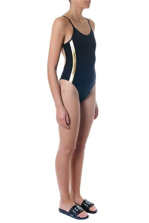 BLACK ONE PIECE SWIMSUIT WITH GOLD BANDS SS 2018 CALVIN KLEIN | 29 | KW0KW00280001UNI001