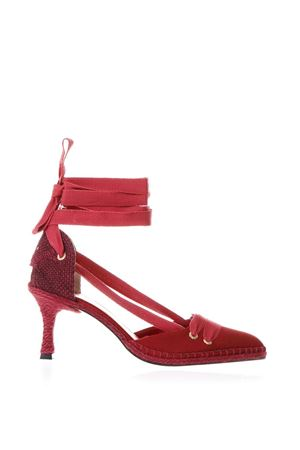 RED SATIN AND JUTA ESPADRILLES WITH HEELS SS18 CASTANER BY MANOLO BLAHNIK | 68 | 020475UNI502