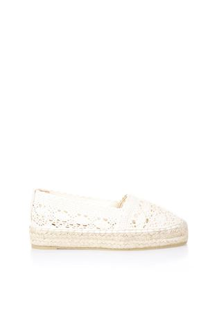 NATURAL PERFORATED ESPADRILLE IN COTTON SS 2018 CASTANER | 144 | 020198KENDA2010