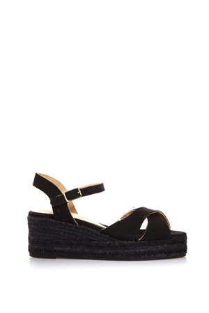 BLACK COTTON CROSSED SANDALS SS 2018 CASTANER | 87 | 020325BLAUDELL100