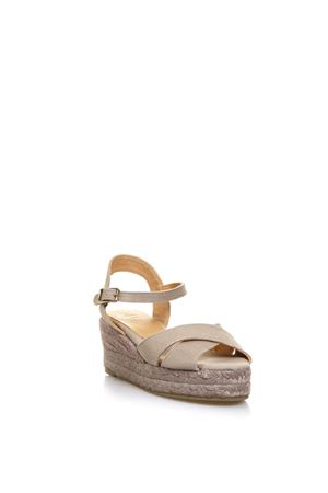 BEIGE CROSSED COTTON SANDALS SS 2018  CASTANER | 87 | 020325BLAUDELL106