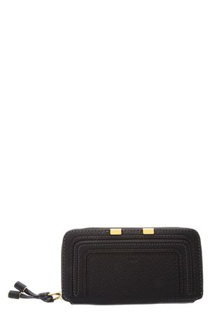 MARCIE BLACK LEATHER ZIP AROUND WALLET SS 2018 CHLOÉ | 34 | 3P0571161001