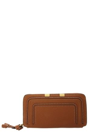 MARCIE TAN LEATHER ZIP AROUND WALLET SS 2018 CHLOÉ | 34 | 3P0571161151
