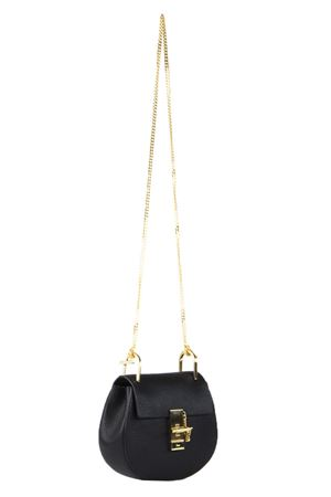 SMALL DREW GRAINED BLACK LEATHER BAG SS 2018 CHLOÉ | 2 | 3S1032944001