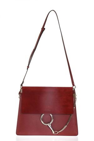 FAYE RED SHOULDER BAG IN LEATHER SS 2018 CHLOÉ | 2 | C17SS231H2O630SACS PORTE EPAUDAHLIA RED