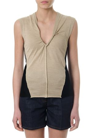 TWO-TONE WOOL BLEND TOP SS 2018 CHLOÉ | 13 | C18UMH1951094QUNIBEIGE/BLACK