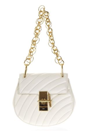 MINI BORSA DREW BIJOU A SPALLA IN PELLE BIANCA PE 2018 CHLOÉ | 2 | C18US107A04119SHOULDER BAGSNATURAL WHITE
