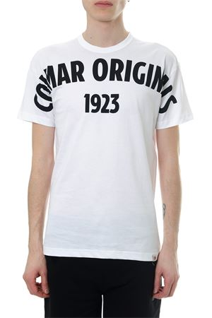 WHITE COTTON T-SHIRT WITH LOGO SS 2018 COLMAR ORIGINALS | 15 | 75986SH01