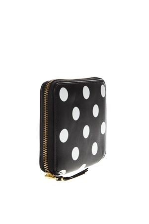 SMALL BLACK & WHITE PODKA DOTS PRINT IN LEATHER SS 2018  COMME DES GARCONS | 34 | SA2100PD1BLACK