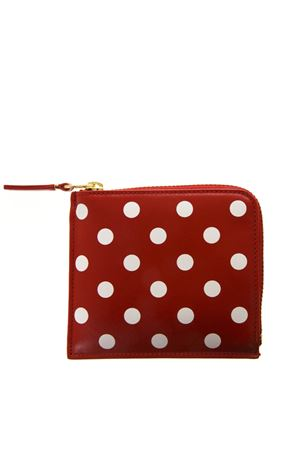 WHITE & RED PODKA DOTS PRINT IN LEATHER SS 2018  COMME DES GARCONS | 34 | SA3100PD1RED