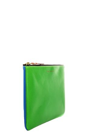 FLUO BLUE & GREEN LEATHER WALLET SS 2018 COMME DES GARCONS | 2 | SA5100SF1BLU/GREEN